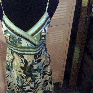 Ann Taylor Floral A line Dress